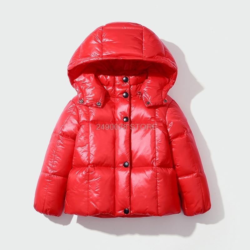 OCHENTA Big Girls Princess Bubble Down Parka Outwear with Faux Fur Hood Black