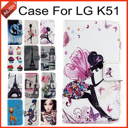 На Алиэкспресс купить чехол для смартфона ailishi case for lg k51 luxury flip pu painted leather case k51 lg 100% special phone protective cover skin+tracking