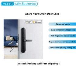 Aqara Thông Minh Cửa N100 Vân Tay Bluetooth Mật Khẩu Mở Khóa Các Tác Phẩm Với Mijia Apple Homekit Thông Minh Liên Kết Với Chuông Cửa