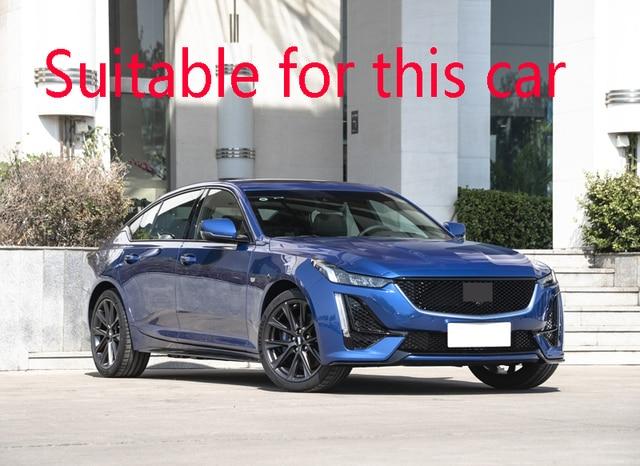 Revêtement dhabillage en acier inoxydable | Pour Cadillac CT5 2019 2020 capot avant, Grille de calandre, pare-choc, lèvre revêtement de maille