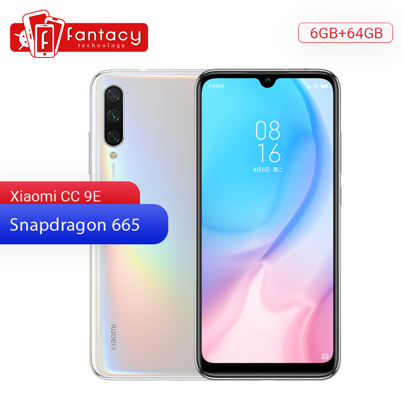 Original Xiaomi Mi CC9e 9 SE 6GB RAM 64GB ROM Mobile Phone Snapdragon 665 48MP Triple Camera 32MP Front Camera 6.088