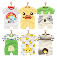 2020 Summer Cartoon Baby Rompers boy Jumpsuits Short Sleeve