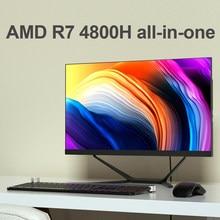 Topton – PC tout-en-un AMD Ryzen 7, 23.8 pouces, ordinateur de bureau de jeu, 4800H, 2 * DDR4, SSD M.2 NVMe, monobloc, 99% sRGB, écran IPS, WiFi6