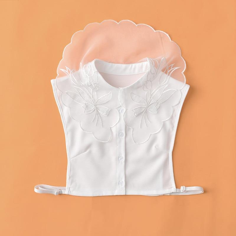 Autumn winter professional collar lady shirt collar lapel chiffon shirt undershirt bust collar sleeveless lining
