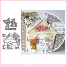 Kitten Puppy House Metal Cutting Dies for DIY Scrapbooking Photo Album Decorative Embossing Paper Card Crafts Die Cut 2019(China)