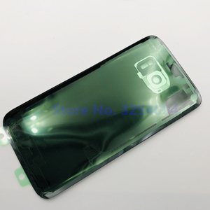 Для Samsung Galaxy S7 Edge G935 S7 G930 задняя крышка для аккумулятора запасные части для корпуса двери + стеклянная рамка для объектива ушной камеры