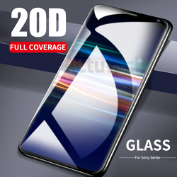 На Алиэкспресс купить стекло для смартфона 20d 3d curved full cover screen protector tempered glass for sony xperia 1 xz4 xz3 xz2 xz1 compact xz premium xa2 ultra 10 plus