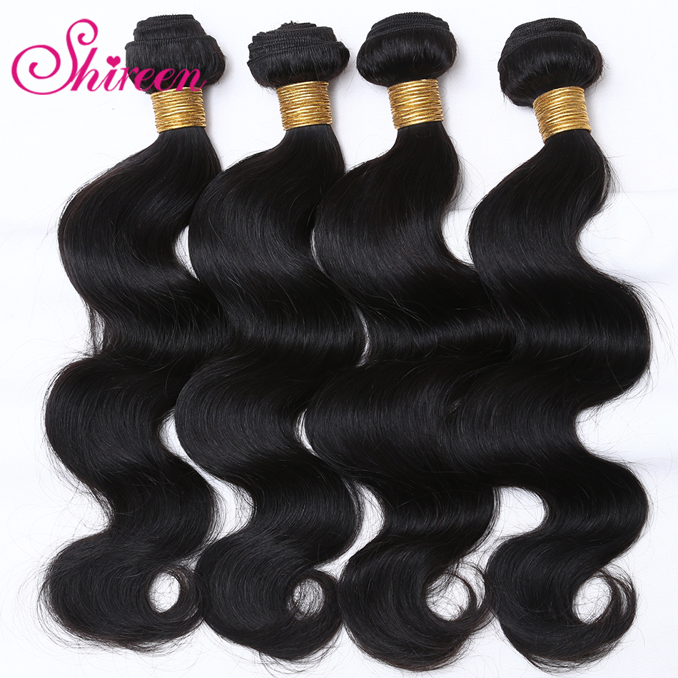 Shireen Malaysian Body Wave Hair Bundles 100% Human Hair Weave 8 To 30 Inches 4 Bundles Deals Remy Hair Extension Double Weft