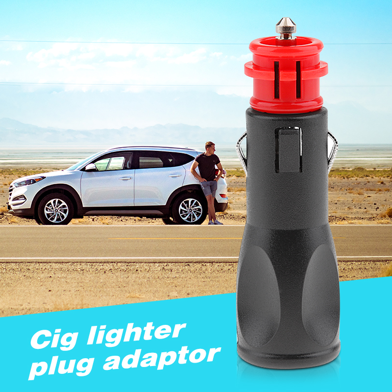 12/24V Car Cigarette Lighter Plug Adaptor Male Socket Power Plug For Car SUV Truck RV Boat Marine Quad ATV Etc Car Accessories