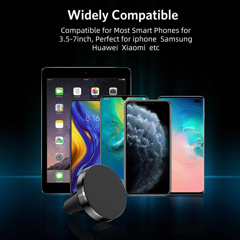 Gtwin magnético suporte do telefone do carro para o iphone samsung huawei xiaomi ar vent montar no carro ímã de metal suporte do telefone móvel suporte