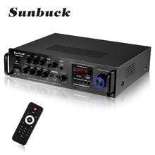 2000w 5 canais bluetooth amplificador estéreo de alta fidelidade led digital karaoke amplificador de áudio cinema em casa