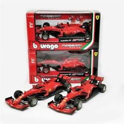 BBurago 1:43 Ferrari F1 2019 SF90 #5 Sebastian Vettel #16 Charles Leclerc нормальная версия Formula one гоночный литой автомобиль