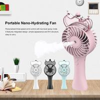 DSstyles Gadget USB Fan Portable Handheld Spray Hydrating Mini Rechargeable Silent Fan Outdoor Cooling Tool Free Shipping