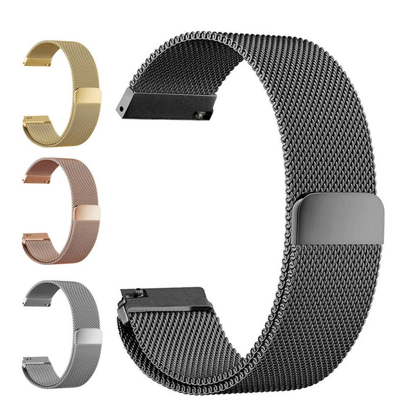 20mm 22mm Stainless Steel Band For Samsung Galaxy Watch 42mm 46mm Milanese Wristband Metal Magnetic Strap Galaxy Active 2 40 44
