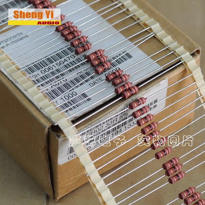 50 Vishay PR02-100R 100R 2W Resistoren PRO2