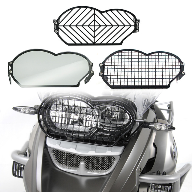 Para bmw r 1200 gs r1200gs adv r1200gs aventura 2004 2012 motocicleta farol cabeça luz guarda protetor capa proteção grill