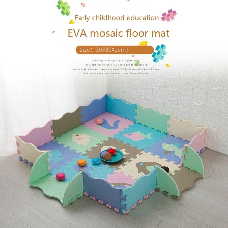 EVA Puzzle Floor Mats, Children's Play Mats, Crawling Mats  Antiskid Waterproof And Collision Proof Children's Play Floor Mats