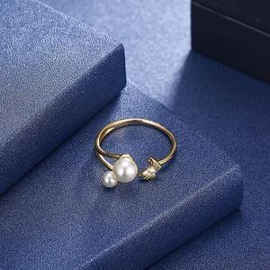 Image 5 - DOM Women Rings  925 Sterling Silver Adjustable Ring Elegant Butterfly Pearl Rings for Women Original Fine Jewelry SVR395