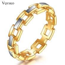 Женское кольцо из нержавеющей стали обручальные кольца золотого
