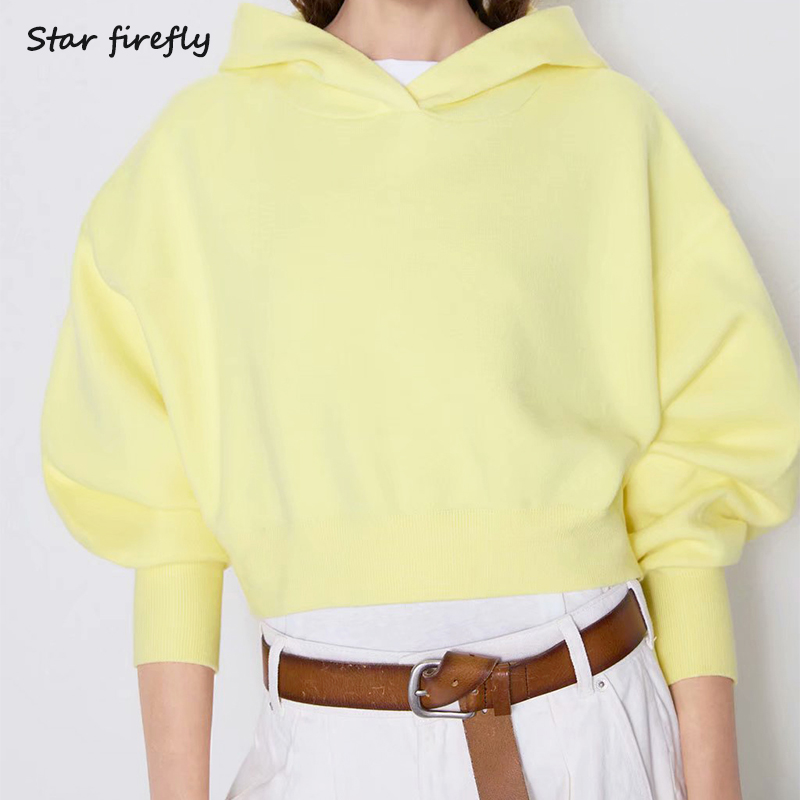 Star Firefly 2019 Autumn Women Sweatshirt Long-sleeved Hooded Knit Pullovers Sweatshirt