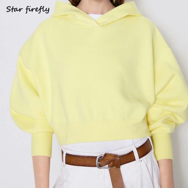 Star Firefly 2019 Autumn Women Sweatshirt Long-sleeved Hooded Knit Pullovers Sweatshirt