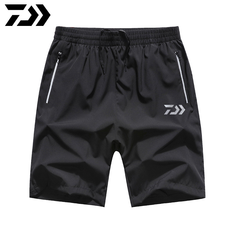 2020 New Style Daiwa Fishing Shorts Waterproof Breathable Lightweight Beach Pants Loose Men's Knee Length Fishing Pants M-7XL