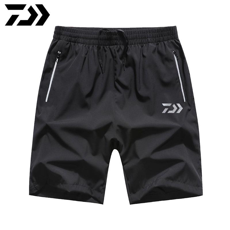 2020 New Style Daiwa Fishing Shorts Waterproof Breathable Lightweight Beach Pants Loose Men's Knee Length Fishing Pants M-7XL