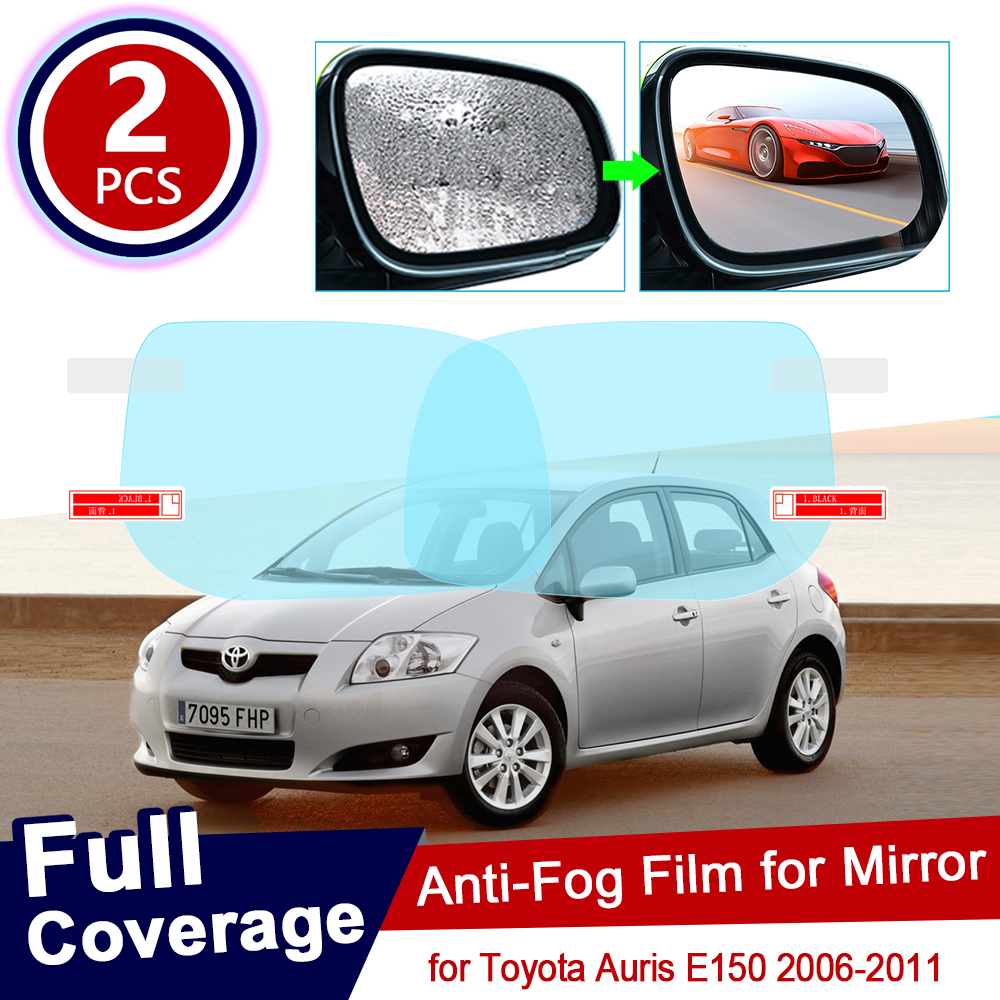 For Toyota Auris 2006~2011 E150 150 Full Cover Anti Fog Film Rearview Mirror Rainproof Anti-Fog Films Clean Accessories 2010
