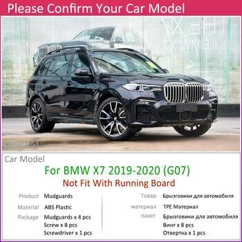 4 PCS รถ Mudflaps สำหรับ BMW X7 G07 2019 ~ 2020 Fender Mud Guard Flap Splash Mudguards อุปกรณ์เสริม