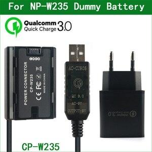 Image 1 - NP W235 NP W235 더미 배터리 CP W235 전원 커넥터 FUJIFILM X T4 XT4 GFX100S 디지털 카메라