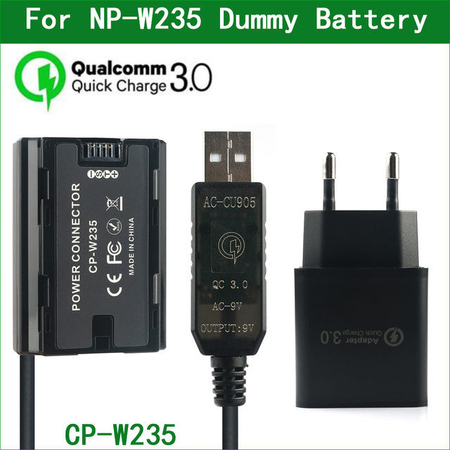 NP W235 NP W235 더미 배터리 CP W235 전원 커넥터 FUJIFILM X T4 XT4 GFX100S 디지털 카메라