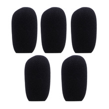 5PCS Black Microphone Headset Foam Sponge Windscreen Mic Cover 5 Sizes X6HB