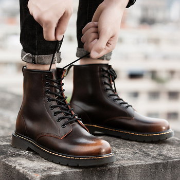 Leather Martin Boots For Men Shoes Martin Boots men Winter Men's Shoes Fashion men's shoes 2019 Light Breathable men's shoes