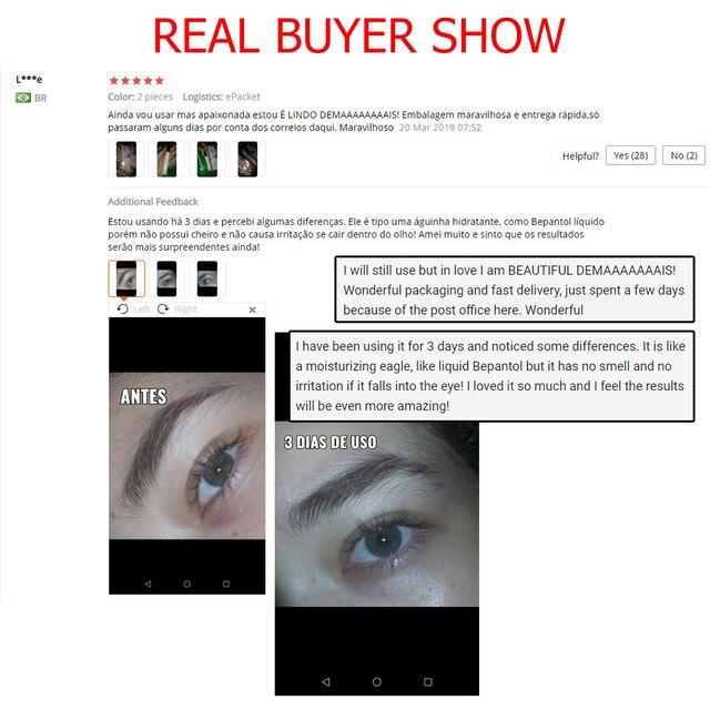 O.TWO.O Eyelash Growth Treatments Moisturizing Eyelash Nourishing Essence For Eyelashes Enhancer Lengthening Thicker 3ml 5