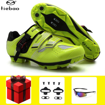 Tiebao Cycling shoes  sapatilha ciclismo mtb men sneakers women cleats glasses bicycle self-locking mountain bike Shoes