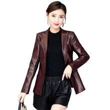 Women Winter Jacket High quality Genuine Leather Coats New Elegant Plus size Slim Female Jacket Female Autumn Leather Coat OK210
