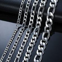 Modyle 2021 mode classique Figaro chaîne collier hommes en acier inoxydable Long collier pour hommes femmes chaîne bijoux