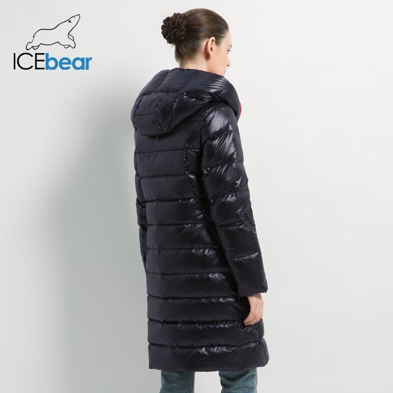 Kadın Giyim'ten Parkalar'de ICEbear 2019 kadın kış rahat ince ceket kadın moda ceket yüksek kaliteli yeni kadın kış ceket GWD19505I'da  Grup 3