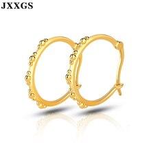 JXXGS Women Earrings Silver 925 Unique Hoop Luxury Jewelry 18K Gold Color For