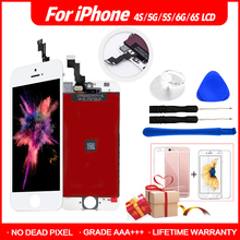 AAA+++ High Quality Display For iPhone 4s 5s 6 LCD Assembly Digitizer Touch Screen 6s 7 100% No Dead Pixel + Dus