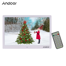 Andoer 15.4 Inch 1280 * 800 LED Digital Picture Photo Frame 1080P HD Video Playing with Remote Control Music Movie  E Book