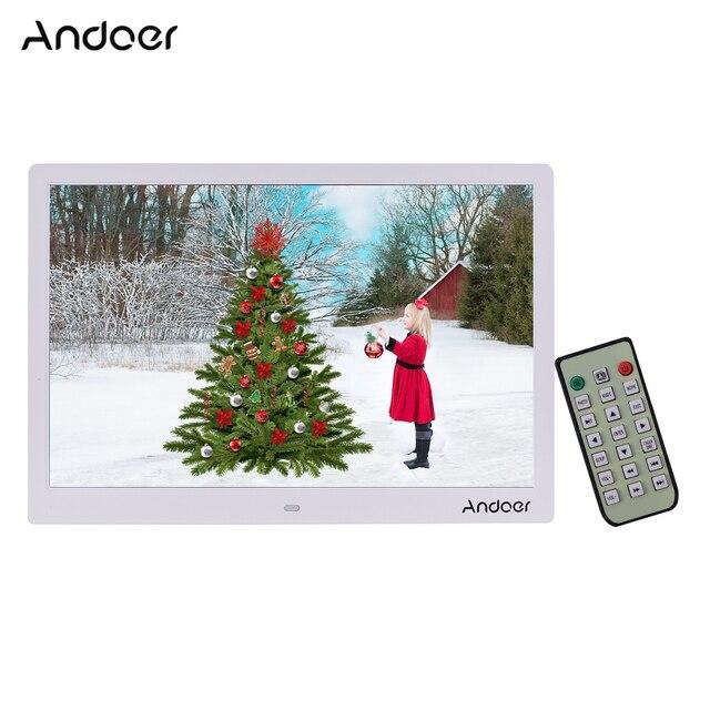 Andoer 15,4 Zoll 1280*800 LED Digitale Bild Foto Rahmen 1080P HD Video Spielen mit Fernbedienung Musik film E Book