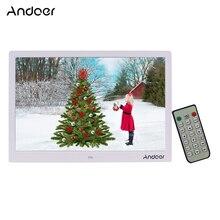 Andoer 15.4 inç 1280*800 LED dijital resim fotoğraf çerçevesi 1080P HD Video oynatma uzaktan kumanda ile müzik film e kitap