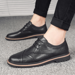 Image 5 - Brand Men Oxfords Shoes British Style Men Genuine Leather Business Formal Shoes Dress Shoes Men Flats Top Quality Loafers
