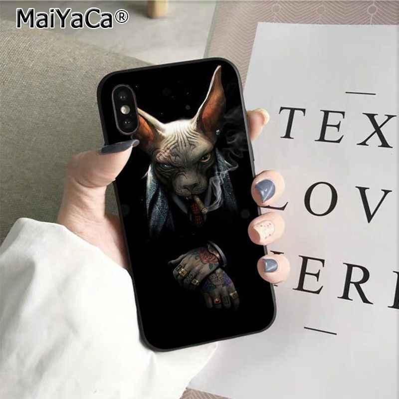 MaiYaCa animal Sphynx chat sans poils impression dessin housse de téléphone pour iphone SE 2020 11 pro 8 7 66S Plus X XS MAX 55S SE XR