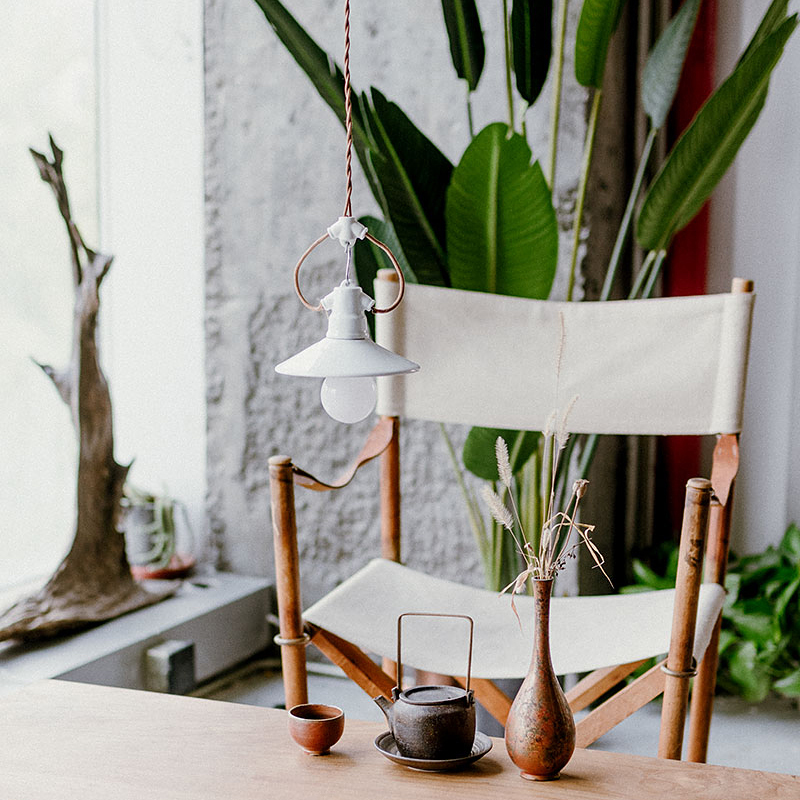 Small Ears White Ceramic LED Pendant Lights Lighting Vintage Pendant Lamp Dining Living Room Bedroom Home Decor Hanging Lamp