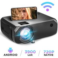 Projektor LED Wifi Android 6 0 przenośny projektor projektor wideo Full HD 3D dla domu PR55101 tanie tanio Aumiro Instrukcja Korekta CN (pochodzenie) Mini 4 3 16 9 X 2 25 3900 1280x720 dpi 3900lumens PR001 50-230(50-230 inches)inchs