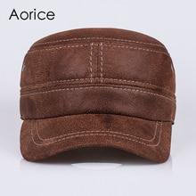 HL019 Genuine Leather baseball cap Fashion Box Hat/CAP  2016 new men brand army Nubuck leather hat