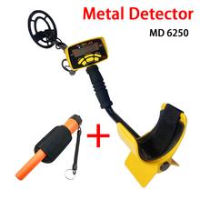 Upgrade profesjonalny wykrywacz metalu wysokowydajny podziemny wykrywacz metali MD6250 trzy tryby wykrywania monety biżuteria wszystkie metalowe tanie tanio TTAKA7 NONE CN (pochodzenie) Metal Detector MD-6250 Use water-proof loudspeaker adjust the detector s length Yellow