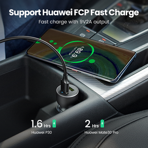 Image 3 - Ugreen Quick Charge 3.0 36W QC Car Charger for Samsung S10 9 Fast Car Charging for Xiaomi iPhone QC3.0 Mobile Phone USB Charger